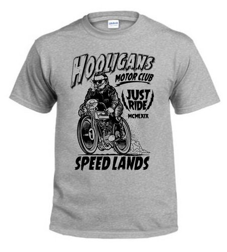 ty-shirt Holigans Motor club,rétro,old school