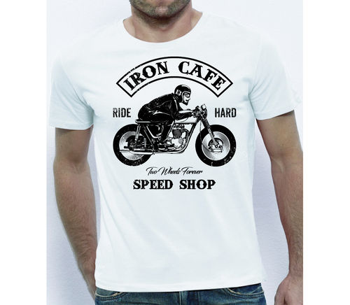 Tee shirt Iron cafe racer