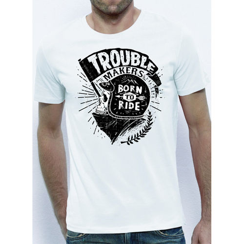 T-shirt trouble makers born to ride