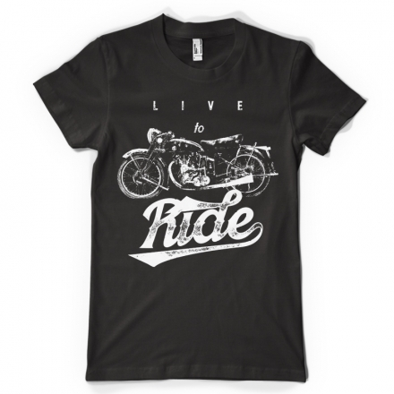 ty shirt Live to ride ,route 66