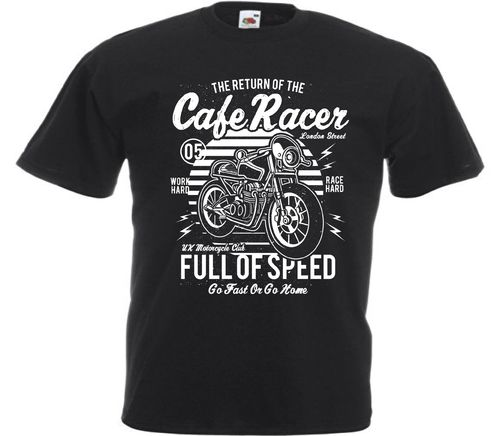 ty-shirt Cafe racer Full of Speed