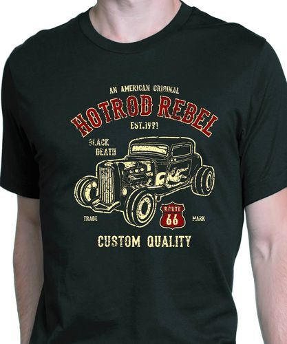 ty shirt hot rod rebel vintage