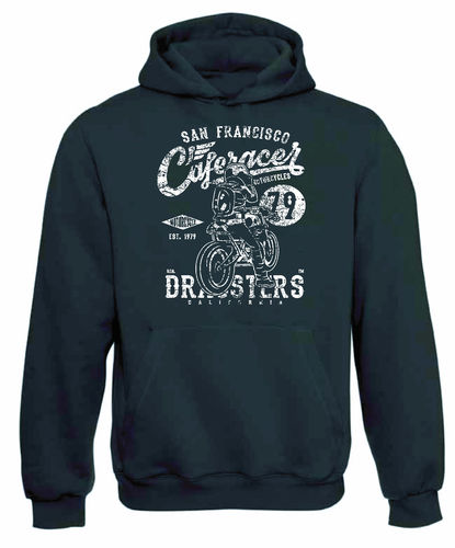 sweat shirt capuche Cafe racer motorcycle