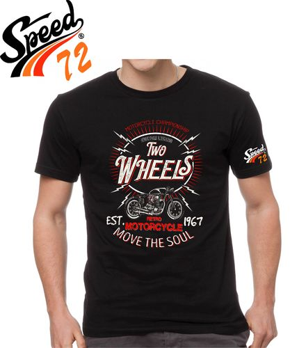 Tee shirt Two Wheel's motorcycle  speed 72