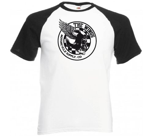 Tee shirt biker The wings motorcycle